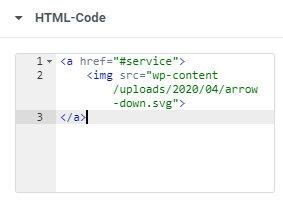Arrow Down HTML Code